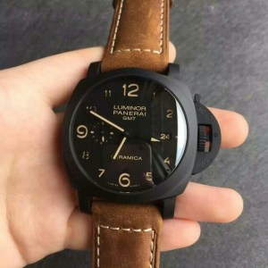 PANERAI REPLICA LUMINOR 1950 3 DAYS GMT CERAMICA PAM 441 V4 ULTIMATE EDITION