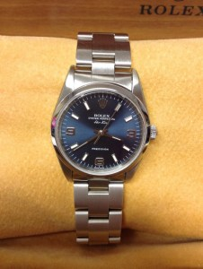 Rolex replica Air King 14000M Blue Dial 34mm5