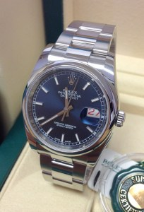 Rolex replica Datejust 116200 36mm Blue Baton-5