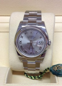 Rolex replica Datejust 116200 36mm Rhodium Dial roman