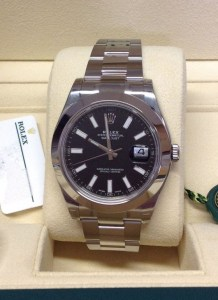 Rolex replica Datejust II 116300 41mm Black Dial