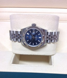 Rolex replica Datejust Lady 179174 26mm Blue Baton3