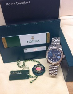 Rolex replica Datejust Lady 179174 26mm Blue Baton4