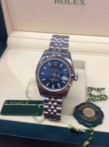 Rolex replica Datejust Lady 179174 26mm Blue Baton6