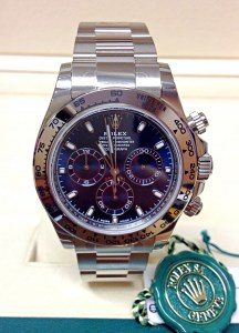 Rolex replica Daytona 116509 White Gold Blue Dial5