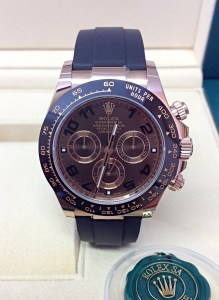 Rolex replica Daytona chocolate 116515LN Rose Gold