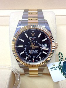 Rolex replica Sky-Dweller 326933 Bi-Colour Black Dial5