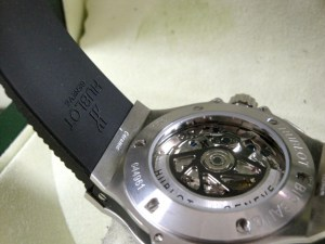 hublot replica big bang ghiera acciaio strip rubber14