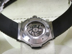 hublot replica big bang ghiera acciaio strip rubber15