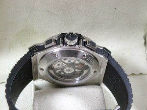 hublot replica big bang ghiera acciaio strip rubber9